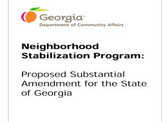 Federal Allocation to Georgia