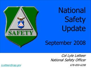 National Safety Update September 2008