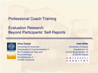 Professional Coach Training Evaluation Research  Beyond Participants' Self-Reports