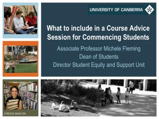 What to include in a Course Advice Session for Commencing Students