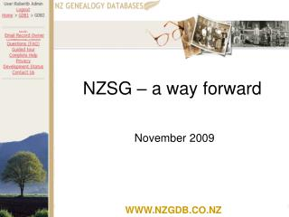 NZSG – a way forward