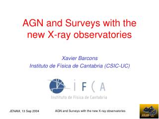 AGN and Surveys with the new X-ray observatories