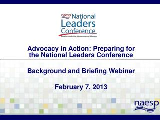 Advocacy in Action: Preparing for the National Leaders Conference Background and Briefing Webinar