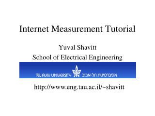 Internet Measurement Tutorial