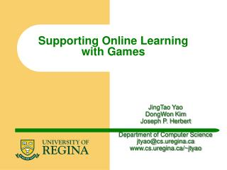 Supporting Online Learning with Games