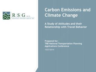 Carbon Emissions and Climate Change