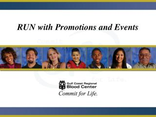 RUN with Promotions and Events