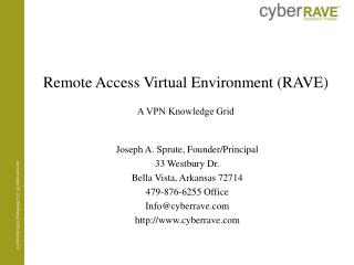 Remote Access Virtual Environment (RAVE)  A VPN Knowledge Grid