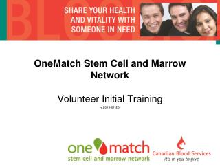 OneMatch Stem Cell and Marrow Network