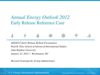 Annual Energy Outlook 2012 Early Release Reference Case