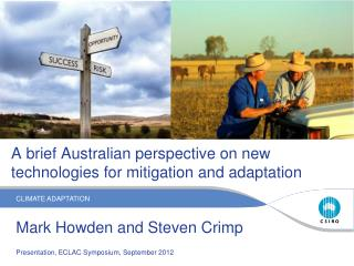 A brief Australian perspective on new technologies for mitigation and adaptation