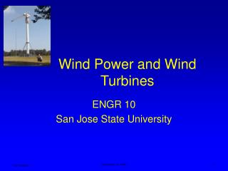 Wind Power and Wind Turbines