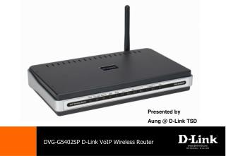 DVG-G5402SP D-Link VoIP Wireless Router