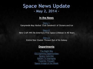 Space News Update - May 2, 2014 -