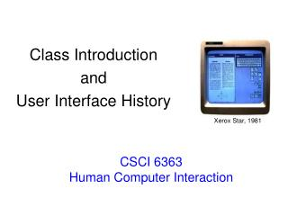 CSCI 6363 Human Computer Interaction