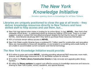 Access to Education in Museums … Museums opening doors to knowledge for all New Yorkers