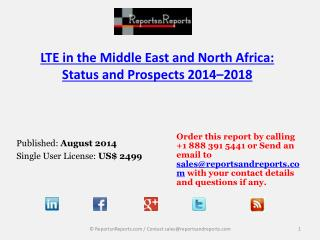2018 Forecasts to Middle East and North Africa LTE Industry