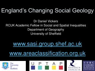England's Changing Social Geology
