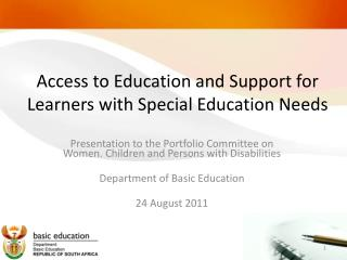 Access to Education and Support for Learners with Special Education Needs