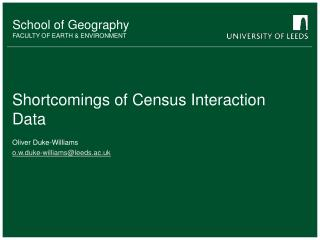 Shortcomings of Census Interaction Data