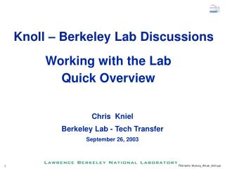 Working with the Lab  Quick Overview