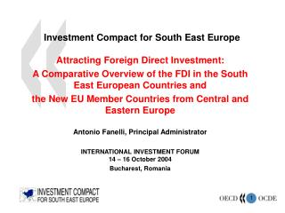 Investment Compact for South East Europe