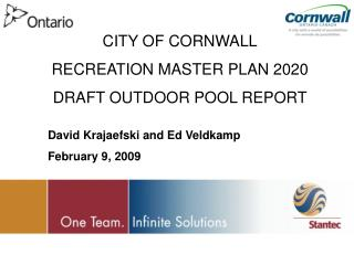 CITY OF CORNWALL RECREATION MASTER PLAN 2020 DRAFT OUTDOOR POOL REPORT