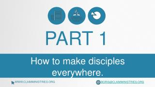 How to make disciples everywhere.