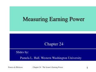 Measuring Earning Power