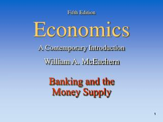 Fifth Edition Economics A Contemporary Introduction William A. McEachern