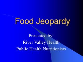 Food Jeopardy