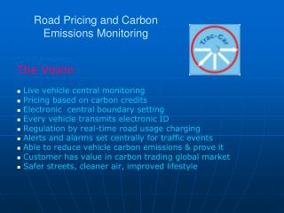 Road Pricing and Carbon Emissions Monitoring