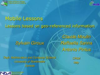 Mobile Lessons Lessons based on geo-referenced information