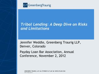 Tribal Lending: A Deep Dive on Risks and Limitations