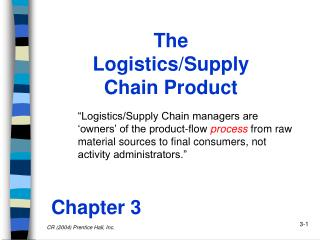 The Logistics/Supply Chain Product