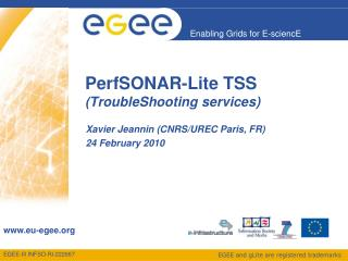 PerfSONAR-Lite TSS (TroubleShooting services)