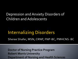 Depression and Anxiety Disorders of Children and Adolescents