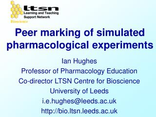 Peer marking of simulated pharmacological experiments