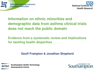 Racial and Ethnic Diversity in Clinical Research