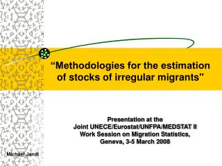 """Methodologies for the estimation  of stocks of irregular migrants"""