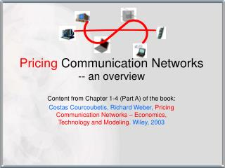Pricing  Communication Networks -- an overview