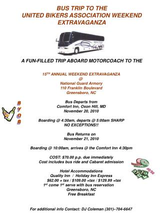 A FUN-FILLED TRIP ABOARD MOTORCOACH TO THE