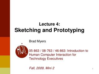 Lecture 4: Sketching and Prototyping