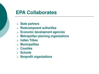 EPA Collaborates