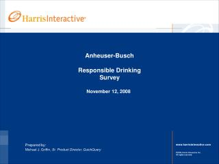 Anheuser-Busch Responsible Drinking Survey