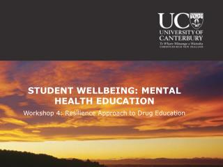 STUDENT WELLBEING: MENTAL HEALTH EDUCATION