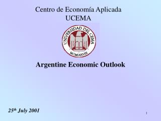 Argentine Economic Outlook