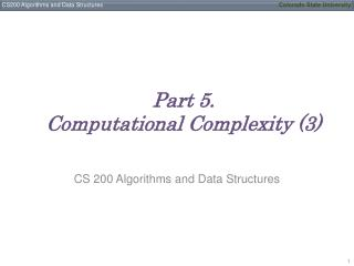 Part 5. Computational Complexity (3)