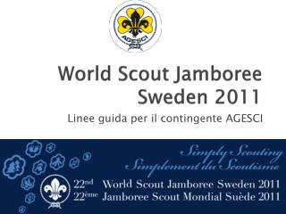 World Scout Jamboree  Sweden  2011