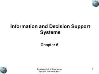 Information and Decision Support Systems